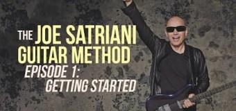 """Joe Satriani Debuts """"Guitar Method"""" Series – Episode 1 – Lessons"""