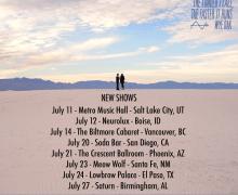 Wye Oak 2018 Tour Dates Added – US/Canada Salt Lake City, Boise, Vancouver, San Diego, Phoenix, Santa Fe