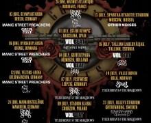 Guns N' Roses Support Bands Announced for 2018 European Tour Volbeat, Greta Van Fleet, Ghost, Manic Street Preachers