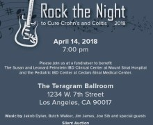 Jakob Dylan, Jim James, Butch Walker 'Rock the Night to Cure Crohn's & Colitis' 2018