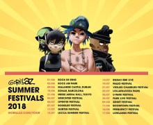 Gorillaz 2018 Summer Festival Tour Schedule