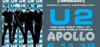 Watch U2 Perform a Private Concert @ the Apollo Theater in New York City – Opportunity