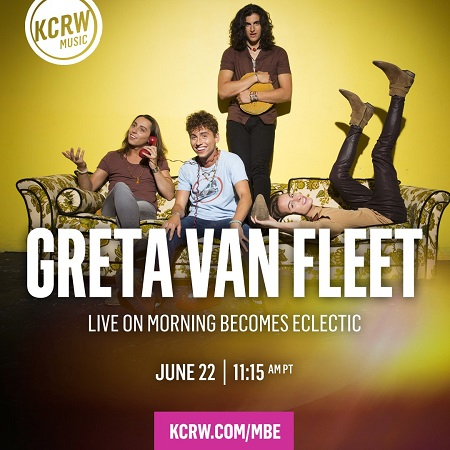 Greta Van Fleet on KCRW - Morning Becomes Eclectic 2018