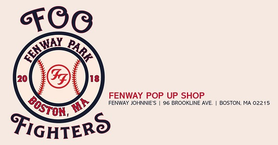 Foo Fighters Pop Up Store @ Fenway Johnnie's in Boston, MA - Directions/Times/Dates/Schedule