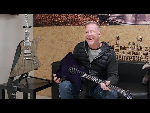 Metallica's James Hetfield Talks Flying V, Explorer, Snakebyte Guitar - ESP - Gibson