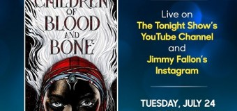 Jimmy Fallon w/ Tomi Adeyemi LIVE Q&A on YouTube/Instagram 'Children of Blood and Bone' – The Tonight Show