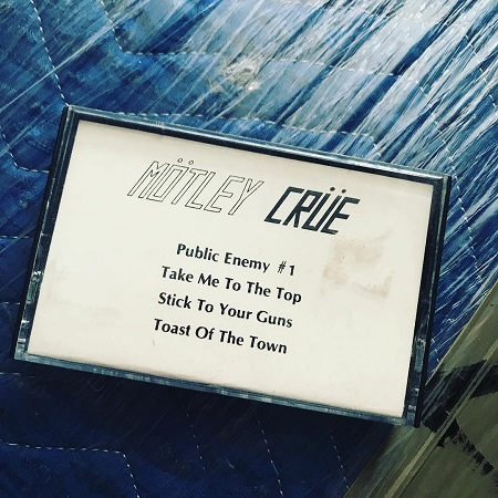 "Mötley Crüe Leathür Records Cassette Demo w/ ""Public Enemy #1"" ""Take Me To The Top"" ""Stick To Your Guns"" ""Toast Of The Town."""