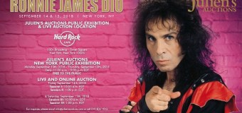 Ronnie James Dio Auction – Personal Items/Property to be Auctioned – Julien's Auctions – Hard Rock Cafe