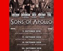 Sons of Apollo Cancel Dynamo, Wacken, Prog in Park II Shows, Add Germany Dates – 2018 Cancelled