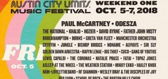 Greta Van Fleet @ 2018 Austin City Limits Music Festival w/ Paul McCartney, The National, Father John Misty