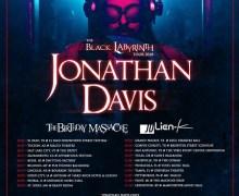 Jonathan Davis 2018 Tour Announced – Tickets – Dates w/ The Birthday Massacre and Julien-K