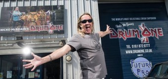 Iron Maiden's Nicko McBrain w/ Al Murray+Manchester Central=UK Drum Show