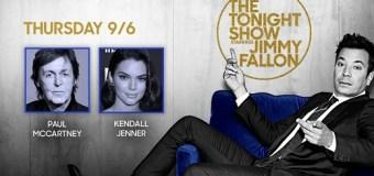 Paul McCartney on Jimmy Fallon – The Tonight Show 2018 – Kendall Jenner