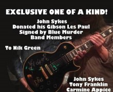 John Sykes Gibson Les Paul Auction – Signed by Blue Murder – Carmine Appice, Tony Franklin