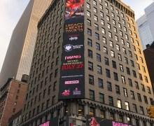 Iron Maiden Times Square Billboard Ad for 2nd Brooklyn Show @ Barclays Center – 2019 Legacy Of The Beast Tour