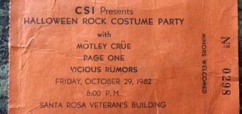 Mötley Crüe – October 29, 1982 w/ Vicious Rumors – Halloween Rock Costume Party