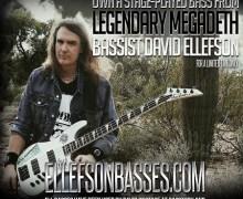"Megadeth's David Ellefson, ""Stage-Used Basses Now For Sale Online"""