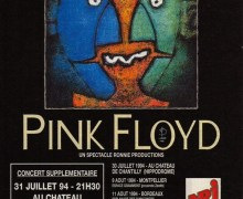 Pink Floyd Poster For Six Shows In France – 1994 – Storm Thorgerson