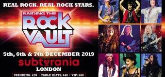 Raiding the Rock Vault LIVE at Subterania (London, UK) 2019 – Tony Franklin, Paul Shortino, McAuley