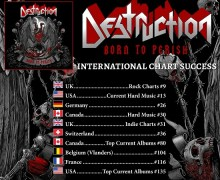 Destruction 'Born to Perish' Chart Positions – New Album 2019
