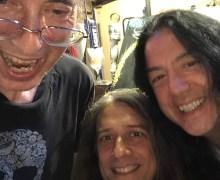 The Last Spiders & Snakes Group Selfie: Lizzie Grey, Chris Sheridan & Tim Yasui