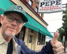 "Ron Howard, ""Had Some Tremendous Pizza"" @ Frank Pepe Pizzeria Napoletana, New Haven, CT – 2019 Movie"