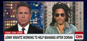 Lenny Kravitz Talks Bahamas/Hurricane Dorian on CNN  – How to Help/Donate