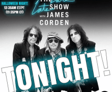 Hollywood Vampires on The Late Late Show w/ James Corden Halloween 2019 – Johnny Depp, Joe Perry, Alice Cooper