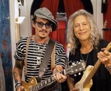 """Johnny Depp Hangs w/ Metallica's Kirk Hammett – """"An Evening with Mr. Hammett and Mr. Depp"""""""