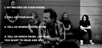 Pearl Jam Wants To Hear From You – Radio – On Air Opportunity