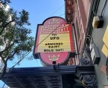 UFO 2019: Great American Music Hall in  San Francisco, CA w/ Armored Saint