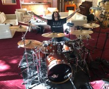 "Deen Castronovo:  ""Day 1 getting drum sounds!"" – The Dead Daisies New Album w/ Glenn Hughes 2020"