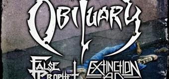 Obituary 2019 East Coast Tour w/ False Prophet & Extinction A.D. – Jacksonville, Brooklyn, Philadelphia