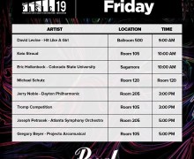 PASIC 19: Pearl Drums Booth – Schedule 2019 – The World's Premier Drum & Percussion Festival