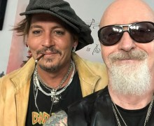 Johnny Depp Hangs w/ Judas Priest Frontman Rob Halford 2019