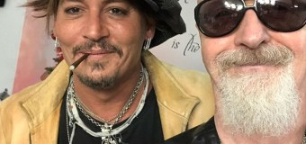 Johnny Depp Hangs w/ Judas Priest Frontman Rob Halford 2019