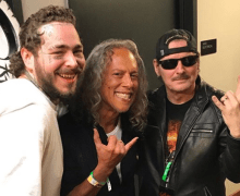 "Post Malone w/ King Diamond and Kirk Hammett @ Slayer's ""Final"" Show"