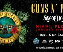 Guns N' Roses & Snoop Dogg @ Super Bowl Music Fest 2020 Miami, FL – Tickets