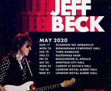 Jeff Beck 2020 UK Tour/Dates/Tickets – London, Cardiff, Sheffield, Manchester, York, Birmingham, Glasgow