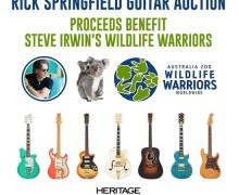 Rick Springfield Guitar Auction for Steve Irwin's Australia Zoo Wildlife Warriors – Wildfire Relief 2020