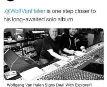"Eddie Van Halen Says Wolf's New Album Will ""Blow Some Minds!!"" – 2020"