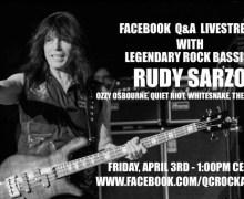 Rudy Sarzo Facebook Q&A Livestream
