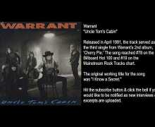 "Warrant Producer Talks ""Uncle Tom's Cabin"" from 1990 'Cherry Pie' Album – Beau Hill Interview Excerpt"