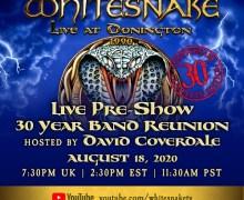Whitesnake 'Live at Donington' 30th Anniversary Concert Live Stream w/ Pre-Show Q&A – Coverdale, Vai, Sarzo, Aldridge, Vandenberg
