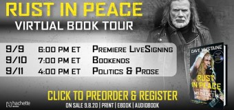 Megadeth: Dave Mustaine RUST IN PEACE VIRTUAL BOOK TOUR – 2020
