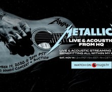 Metallica 'LIVE & Acoustic' Pay-Per-View Streaming Concert 2020 – Tickets