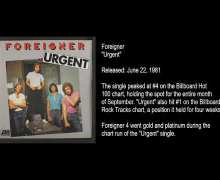 "Foreigner '4' Engineer Tony Platt Talks 1981 Album, ""Waiting for a Girl Like You,"" ""Urgent"""