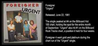 "Foreigner '4' Engineer Tony Platt Talks 1981 Album, ""Waiting for a Girl Like You,"" ""Urgent"""