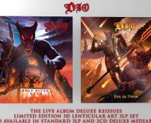 Dio: 'Holy Diver Live' & 'Evil Or Divine' – Reissued & Remastered – Deluxe 3 LP, 2 CD, Digital