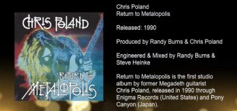 Chris Poland 'Return to Metalopolis' Inside the Album w/ Megadeth Producer Randy Burns – full in bloom Interview